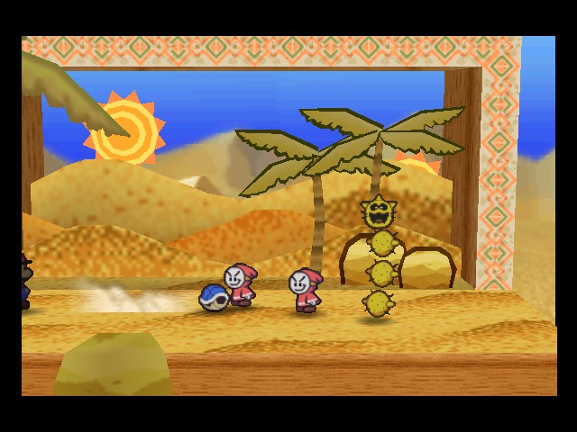 Paper Mario - Battle  - Hello, shell. Nice to meet you. - User Screenshot